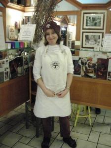 Jenny Sugar nel suo negozio di Milano