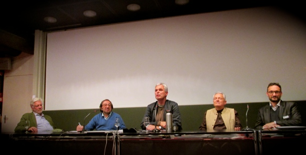 Da sinistra: Francesco Panella, Gabriele Eschenazi, Pietro Leemann, Marco Ferrini, Lorenzo Sonognini